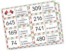 Edit du 20 juillet2014 : ajout dutroisième jeu de dominos Voici une série de jeu de dominos pour renforcer l»acquisition de la notion centaine, dizaine, unité. Jeu de domino 1 (nomb… Math Games, Math Activities, D Unit, Place Values, Multiplication, Best Teacher, Teaching Math, Math Centers, Kids Learning