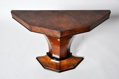 This Art Deco pedestal console table is from Budapest, Hungary and is made from walnut veneers, circa Decor, Home Decor Styles, Top Furniture Stores, Art Deco Interior, Art Table, Art Deco Console Table, Art Deco Furniture, Console Table, Contemporary Trellis