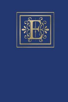Ruled Monogram Journal E