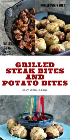 A new twist on an old classic. Steak and potatoes gets made into bite sized appetizers for game day. Simple, and utterly delicious! #dinner #appetizer #snack #gameday #food #recipe #steakbites #potatoes