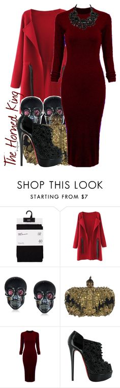 """""""The Horned King (The Black Cauldron)"""" by claucrasoda ❤ liked on Polyvore featuring moda, Tarina Tarantino, Alexander McQueen, WithChic, Christian Louboutin y Packandgo"""