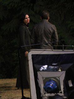 Sean & Lana on set (July 23, 2015)