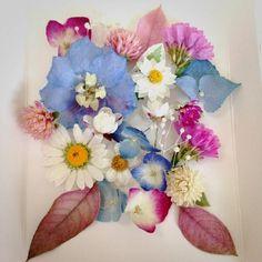 レカンフラワーの作り方♡花の宝石箱☆最先端の押し花! Floral Wreath, Wreaths, Green, Flowers, Image, Home Decor, Ideas, Floral Crown, Decoration Home