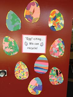 """Apples and ABC's: """"Egg"""" citing! We can recycle with art!"""