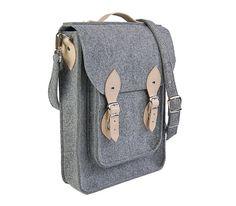 NEW lower price - 30%!!! MacBook Pro 11 inch vertical bag , satchel, Laptop bag, case, felt messenger bag with leather straps, belt shoulder
