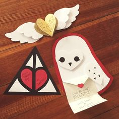 """""""I made these Harry Potter-inspired Valentine's Day cards! You can learn to make them in my tutorial on youtube.com/devilishlypure (link in my bio)…"""""""