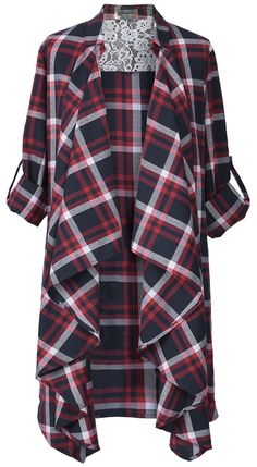 Have this plaid cardigan with free shipping&easy return! This lace lining piece is detailed with open front style&lapel collar! Have this chic stuff at Cupshe.com