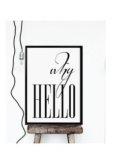 """PRINTABLE Why Hello Poster - Affiche Scandinave - Scandinavian Poster Inspirational - Printable Why Hello 24X36"""",11x14"""",8x10"""",50x70cm,A4"""