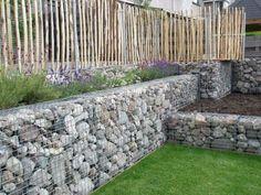støttemur gabioner = stein + stålkurv blir til steinmur bed gjerder