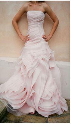 Pink wedding gown - different.