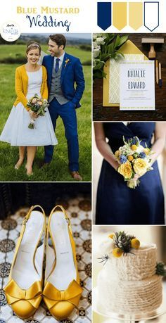 Blue Mustard Wedding Inspiration featuring a gorgeous couple photo, perfect shoes and a yummy looking cake!