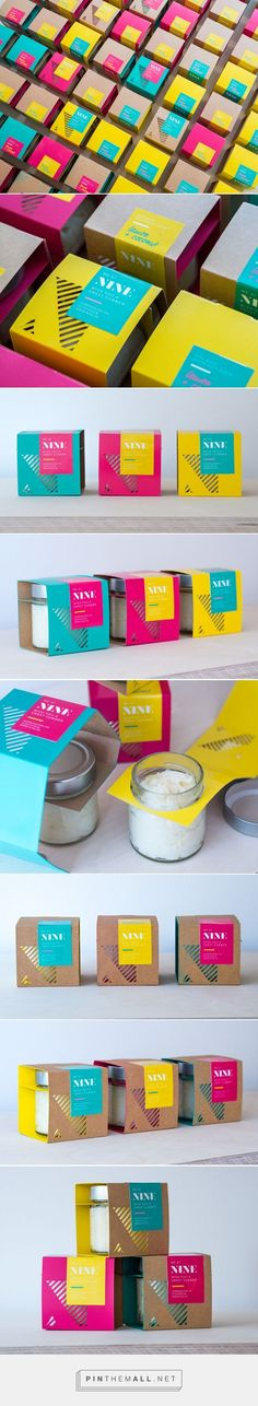 Nine Made Sugar Scrub Packaging by Linn Karlsson More - Recipes, tips and everything related to cooking for any level of chef. Packaging Box Design, Cool Packaging, Bottle Packaging, Packaging Design Inspiration, Brand Packaging, Label Design, Graphic Design Inspiration, Branding Design, Package Design
