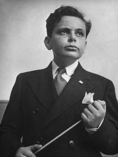 Young Conductor Lorin Maazel Holding His Baton  by Nina Leen