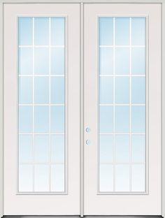"8'0"" Tall 18-Lite GBG Fiberglass Patio Door Unit"