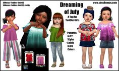 Dreaming of July top by SamanthaGump at Sims 4 Nexus • Sims 4 Updates