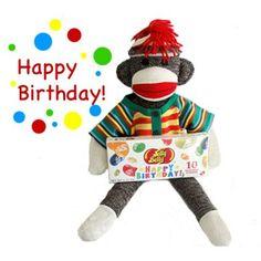 Jace's New Birthday Sock Monkey!! He will LOVE LOVE LOVE it!!
