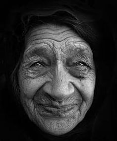 old women faces. You can still see the young woman in her eyes.