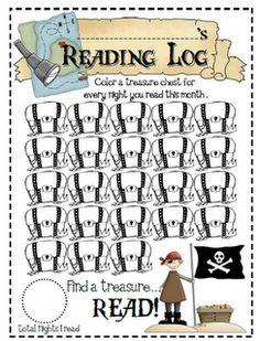 Pirate reading log