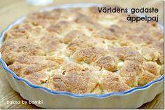 """Världens godaste äpplepaj"" Cake Recipes, Dessert Recipes, Desserts, Grandma Cookies, Swedish Recipes, Cake Cookies, Food Inspiration, Baked Goods, Food To Make"
