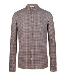Oxblood Gingham Shirt
