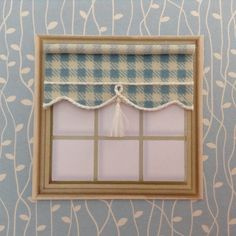 """Items similar to scale blind wide for dolls house """" scale blue check on Etsy House Blinds, Blue Check, Scale, My Etsy Shop, Miniatures, Dolls, Unique Jewelry, Handmade Gifts, Vintage"""