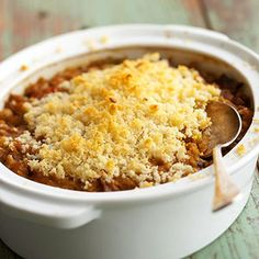 Mixed Bean Cassoulet This bean casserole, a meatless rendition of the classic French cassoulet, is very high in soluble fiber, the kind that may help lower cholesterol.