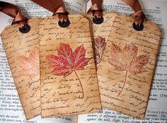 Autumn Leaf Gift Tags