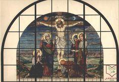 Róth Miksa: Golgota - üvegfestmény terv, akvarell papír, 1905 körül