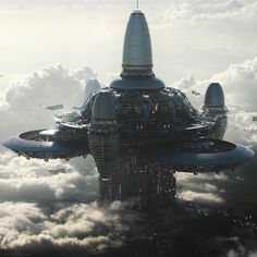 I'm a concept artist and I've ust finished a sci-fi project about polluted Earth and flying cities! Futuristic City, Futuristic Architecture, City Architecture, Concept Architecture, Arte Sci Fi, Sci Fi Art, Spaceship Art, Spaceship Concept, Fantasy City