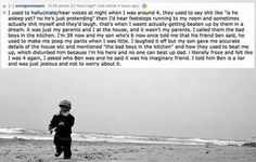 """The 14 Creepiest Things Kids Have Said About Their """"Imaginary Friends"""". Seriously disturbing"""
