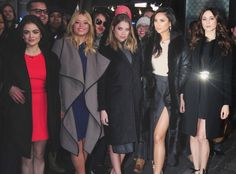 Lucy Hale, Sasha Pieterse, Ashley Benson, Shay Mithcell & Troian Bellisario from The Big Picture: Today's Hot Pics   The Pretty Little Liars stars are photographed outside of Good Morning America in NYC.
