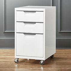TPS white 3-drawer filing cabinet Rolling Desk, Rolling File Cabinet, Drawer Filing Cabinet, Filing Cabinets, Home Office Filing Cabinet, Filing Cabinet Organization, File Cabinet Desk, Storage Organization, Office Furniture File Cabinets