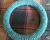 Vintage Handmade Bead Bangle $20 Shipping Included