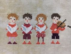Cross Stitch Music, Donia, Needle And Thread, Beautiful Artwork, Handicraft, Embroidery, Crafts, Painting, Vintage