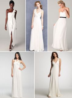 """I might be changing my mind about lace...I like the simple one with the thin black belt. """"Our 16 Favorite Wedding Dresses For Under $1000"""""""