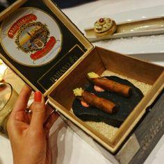 "wagyu ""cigars"" at in Cigars, Sausage, California, Meat, Food, Meals, Sausages, Smoke, Eten"
