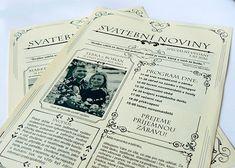 Svatební noviny (20 výtisků A4) / Zboží prodejce W-day | Fler.cz Event Ticket, Weddings, Wedding, Marriage