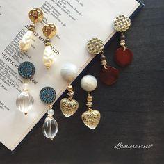 いいね!509件、コメント1件 ― -ルミエール イリゼ-さん(@lumiere_irise)のInstagramアカウント: 「*vintage luxury pierce . 次回販売予定作品 . パールの作品以外は チャームが取り外せる 2wayピアス。 . パーティや2次会etcにも❤︎ . .…」