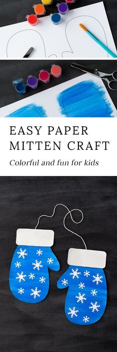 Winter is the perfect season for mitten crafts! Kids of all ages will enjoy using our printable template, washable paint, and craft supplies to create a fun and colorful mitten craft at home or school. #wintercraftsforkids #easycraftsforkids #kidscrafts #kidscraftswniter #mittencrafts #printablekidscrafts #craftsforTheMitten #preschoolcrafts via @https://www.pinterest.com/fireflymudpie/