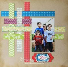 Image result for simple scrapbook layouts #babyscrapbooks