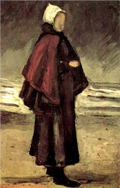 Vincent Van Gogh「Fishermans Wife on the Beach」(1882)