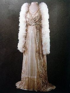 The favorite day gown of Empress Alexandra, wife of Nikolay II of Russia.
