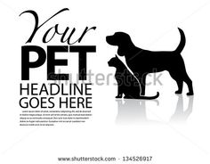 Dog and Cat Silhouette Template. EPS 8 vector, grouped for easy editing. No open shapes or paths. - stock vector