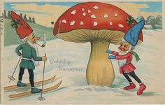 No Gnome would be caught dead with a double Irish shamrock in his head admiring the spotted red, singing, slightly odorous mushroom which grows at the Gnome Grecycling Gcente.