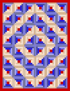 Quilting Assistant : Free Pattern : Traditional Log Cabin Block and loads of easy variations