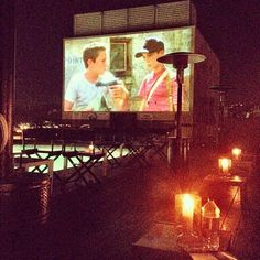 The venerable Caulfield's at Thompson Beverly Hills hotel rooftop bar and pool-lounging grounds presents fun, smog-friendly movie selections each Tuesday evening through September 25th.