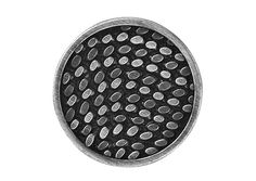 1 Metal Shank Button Silver Dashes 7/8 inch 22 mm by ButtonJones, $4.50
