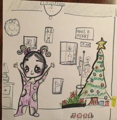 Colored Marker Drawing - Drawn by TA Elliott age 13. Christmas 2015