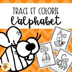 Use these pages for your primary French Immersion students! Use as coloring pages or print 4 pages per sheet and make a mini booklet. Print 6 pages per sheet and students can use these sheets as a reference dictionary in their writing books! Numeracy Activities, Literacy And Numeracy, Activities For Kids, Literacy Centres, Alphabet Tracing, Alphabet Book, Teaching French Immersion, French Alphabet, French Verbs