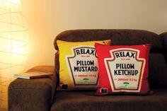 Cojines ketchup y mostaza